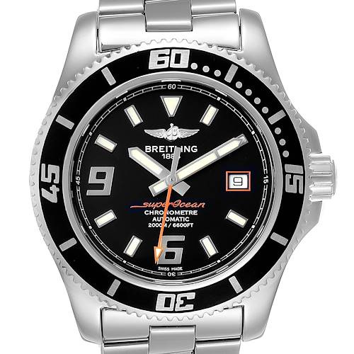 Breitling Aeromarine Superocean 44 Orange Hand Mens Watch A17391