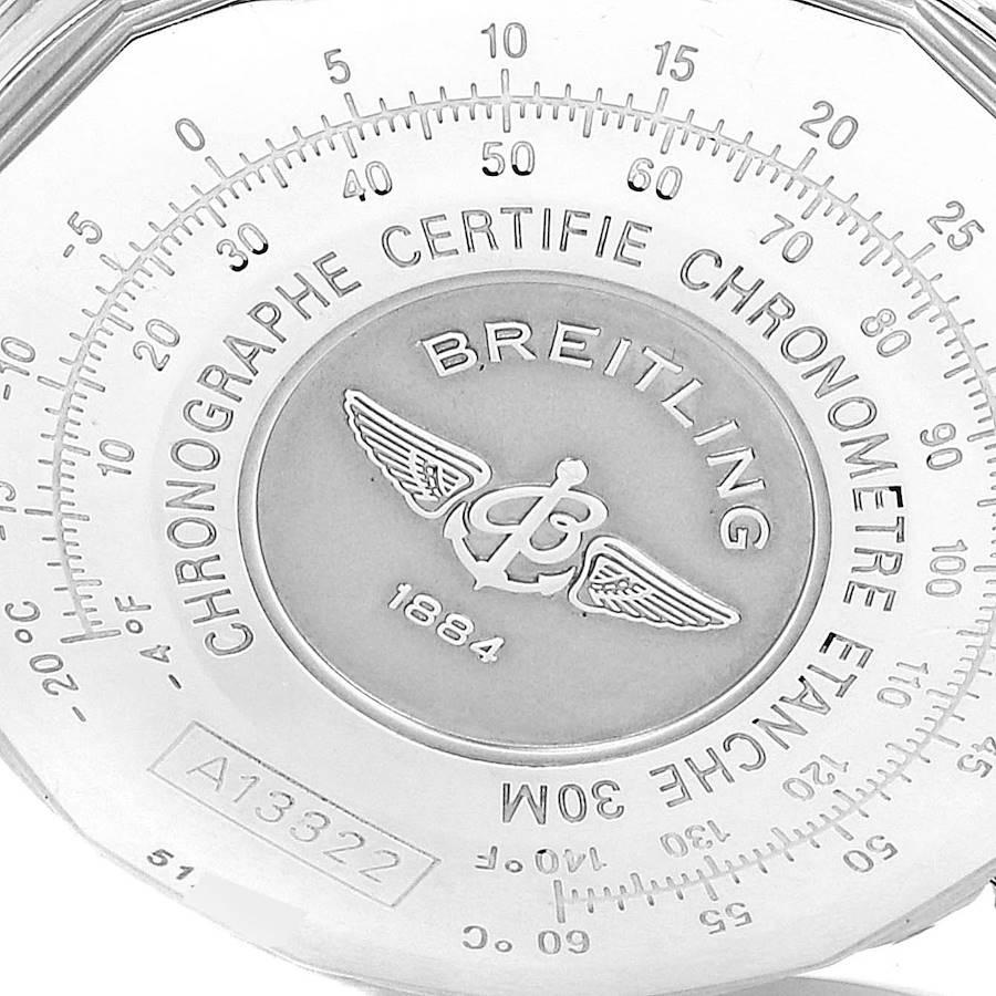 Breitling Navitimer II Blue Dial Chronograph Steel Mens Watch A13322 SwissWatchExpo