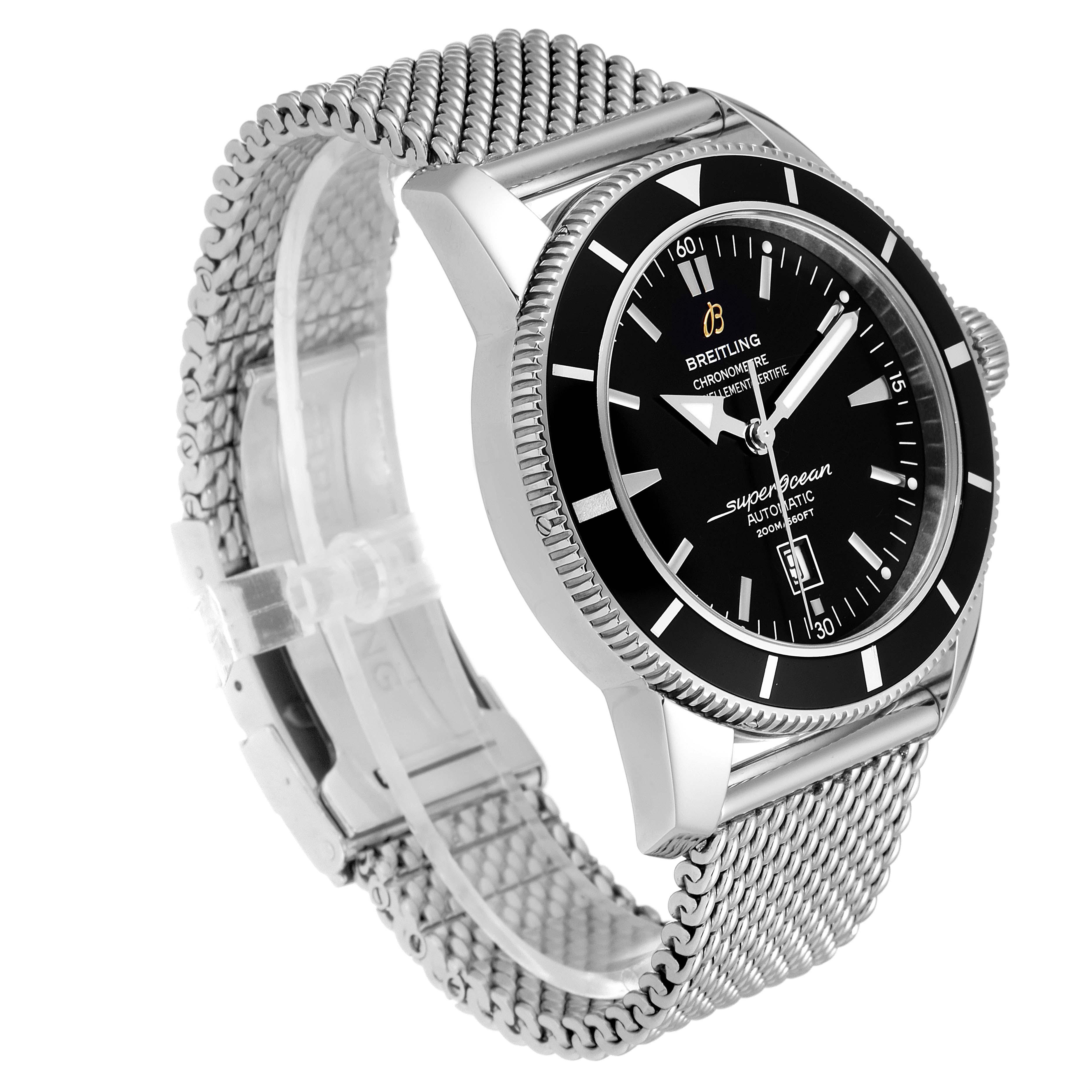Breitling Superocean Heritage 46mm Black Dial Steel Mens Watch A17320 Papers SwissWatchExpo