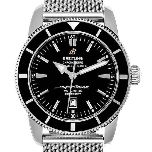 Photo of Breitling Superocean Heritage 46mm Black Dial Steel Mens Watch A17320 Papers