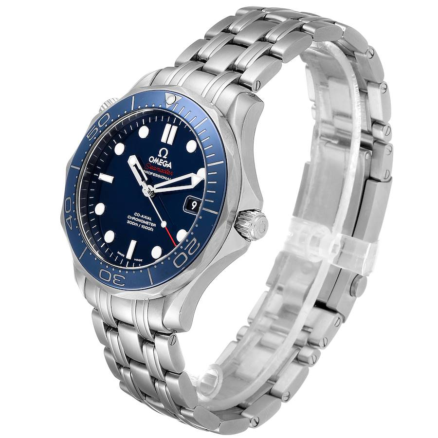 Omega Seamaster Diver Co-Axial Mens Watch 212.30.41.20.03.001 Card SwissWatchExpo
