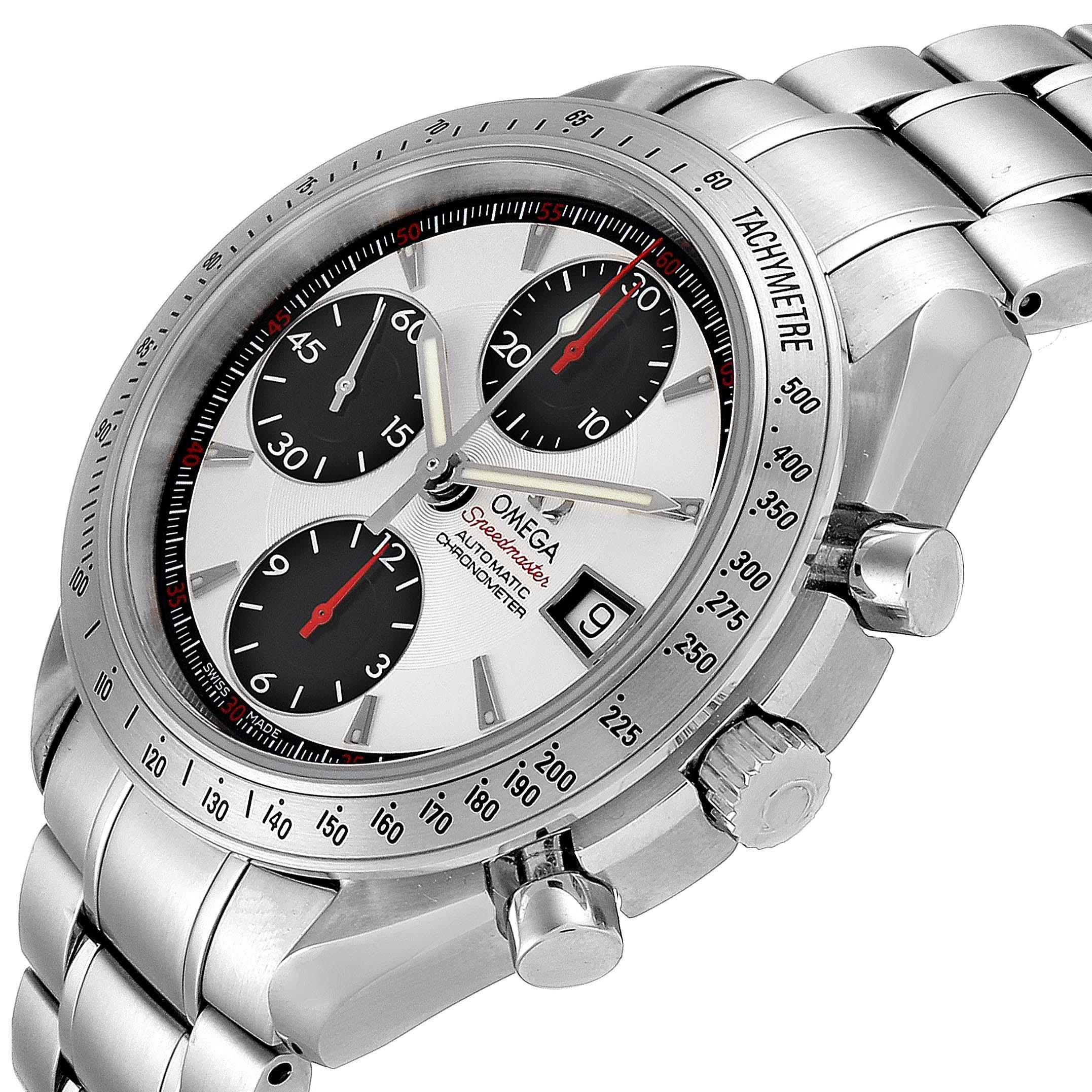 Omega Speedmaster Date Panda Dial Chronograph Mens Watch 3211.31.00 SwissWatchExpo