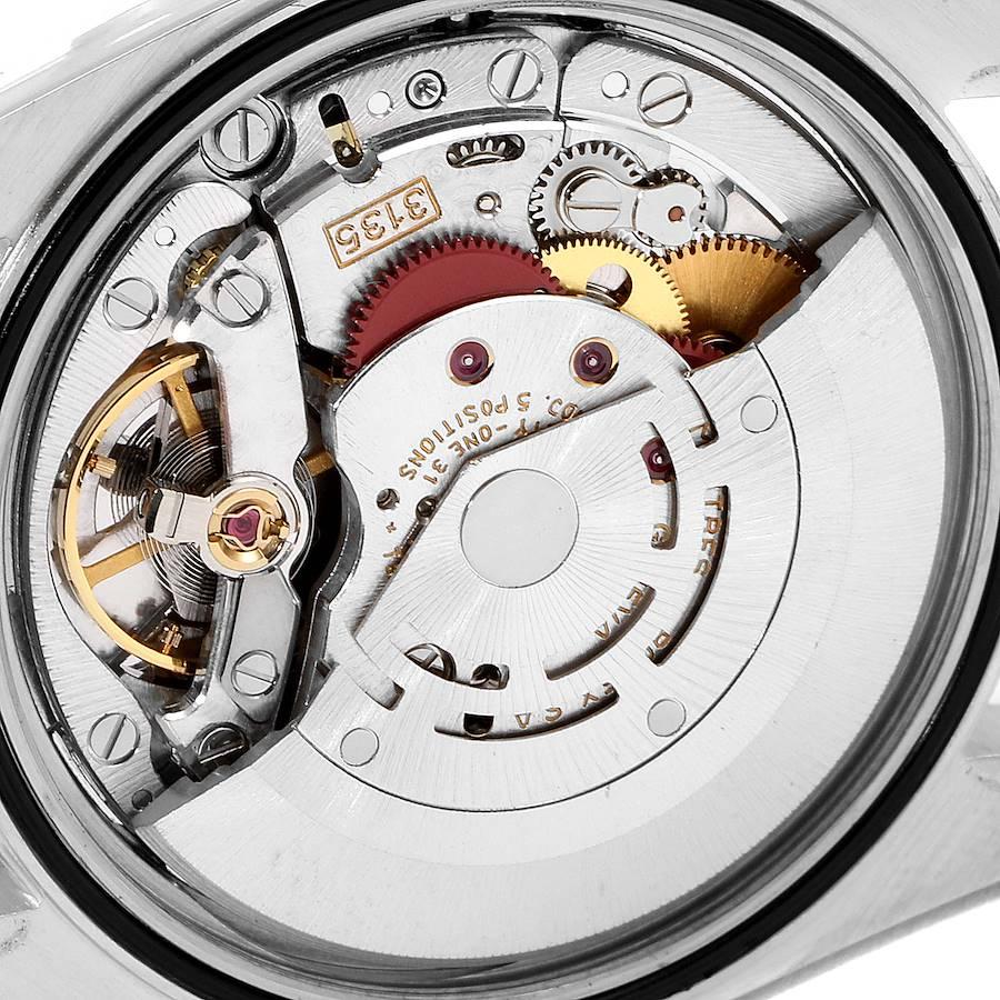 Rolex Datejust Silver Dial Fluted Bezel Steel White Gold Mens Watch 16234 SwissWatchExpo