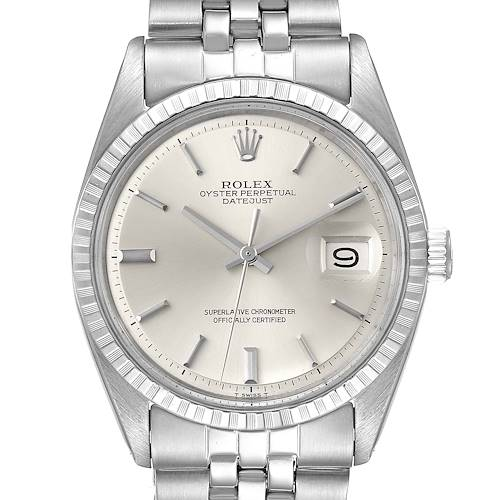 Photo of Rolex Datejust Silver Dial Vintage Steel Mens Watch 1603