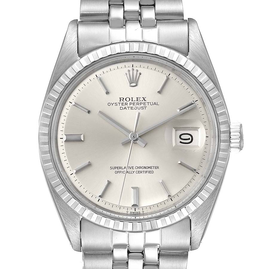 Rolex Datejust Silver Dial Vintage Steel Mens Watch 1603 SwissWatchExpo