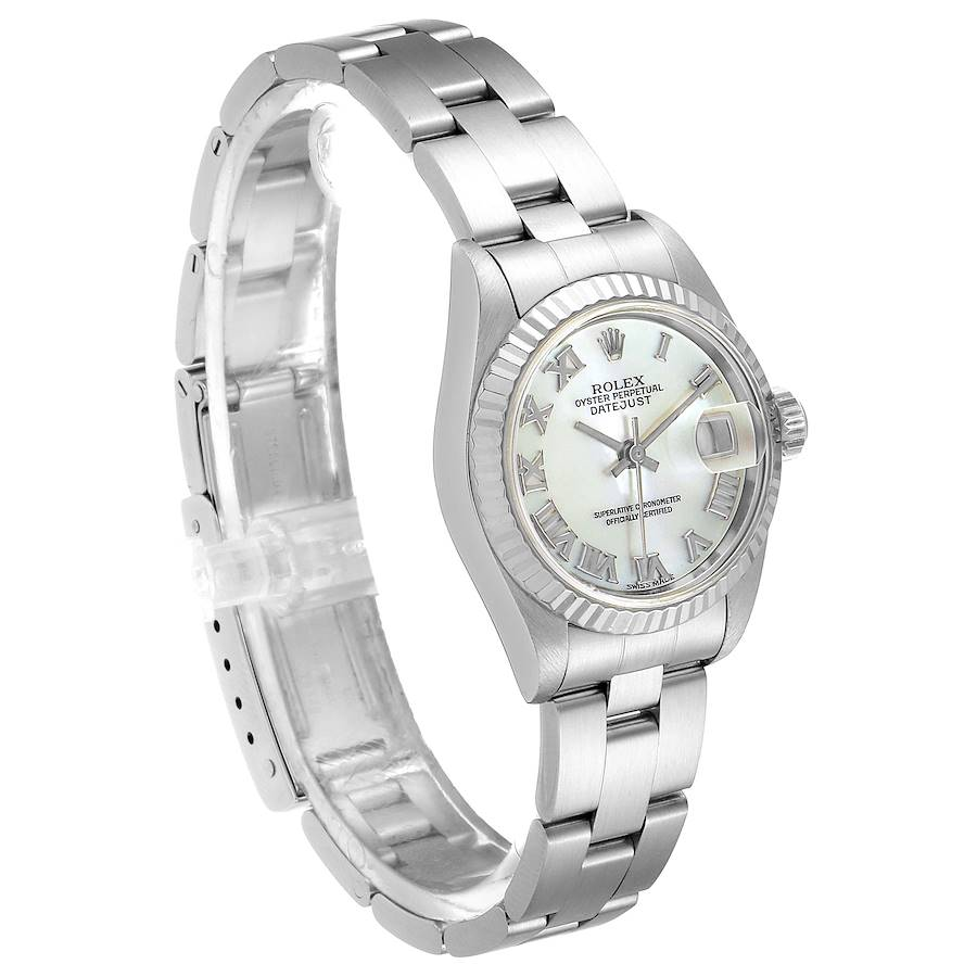 Rolex Datejust Steel White Gold MOP Dial Ladies Watch 69174 Papers SwissWatchExpo