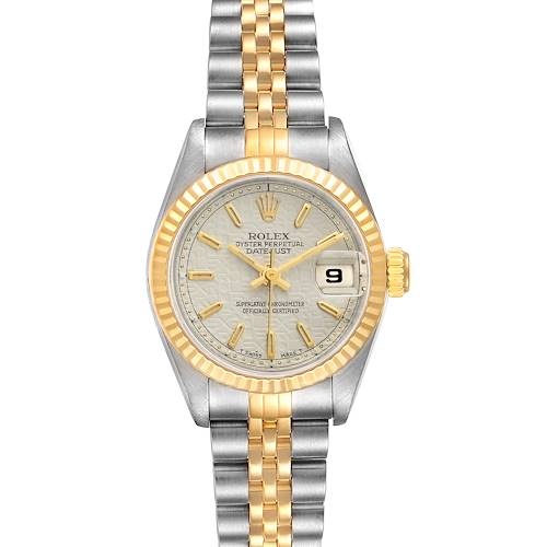 Photo of Rolex Datejust Steel Yellow Gold Fluted Bezel Ladies Watch 69173