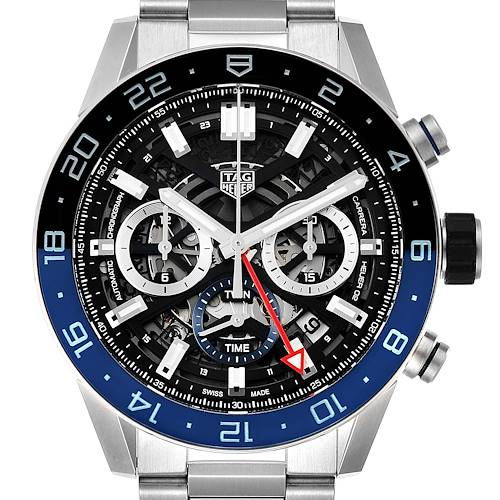 Photo of Tag Heuer Carrera Batman Bezel Chronograph Mens Watch CBG2A1Z Box Card