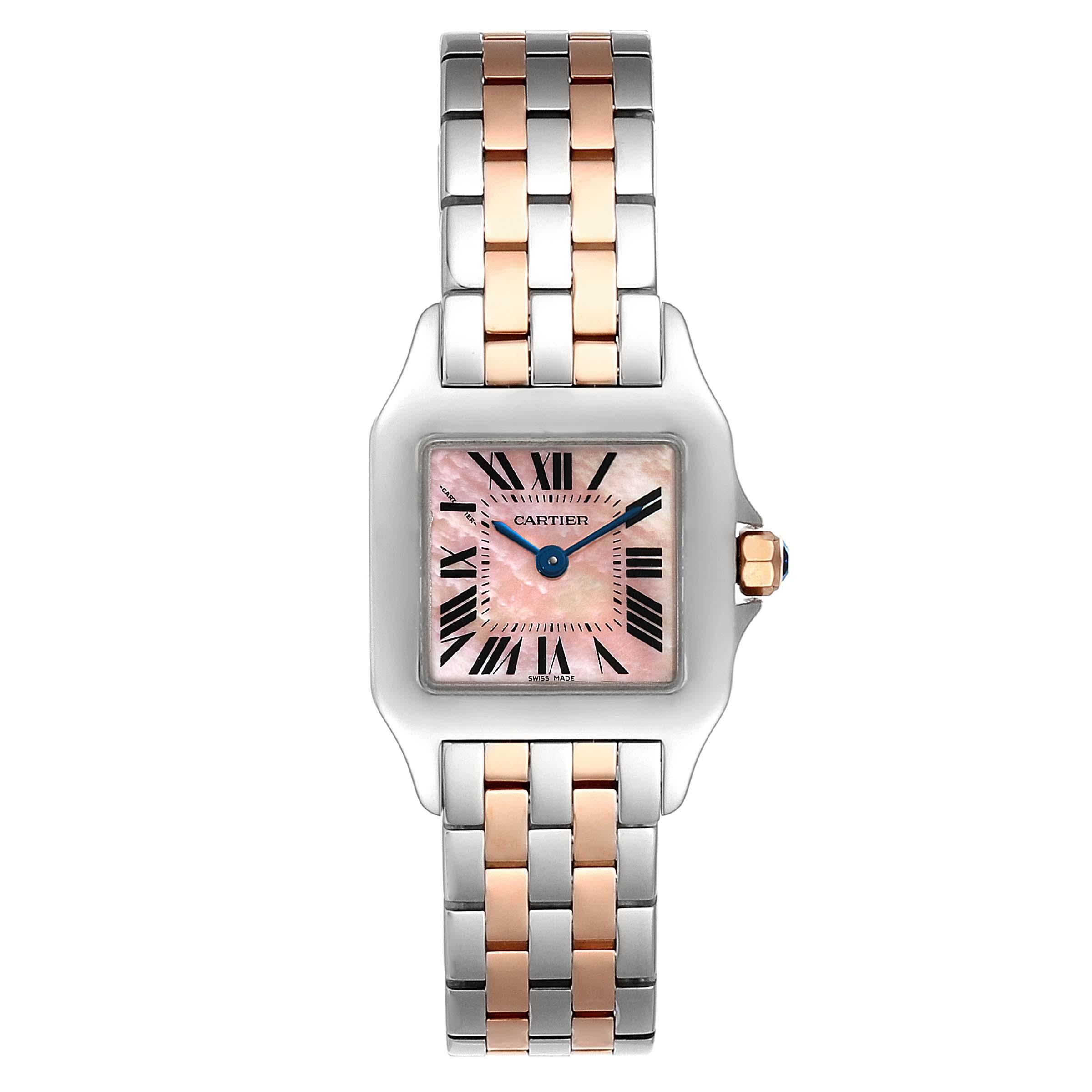 Cartier Santos Demoiselle Steel 18K Rose Gold Ladies Watch W25074Y9 SwissWatchExpo