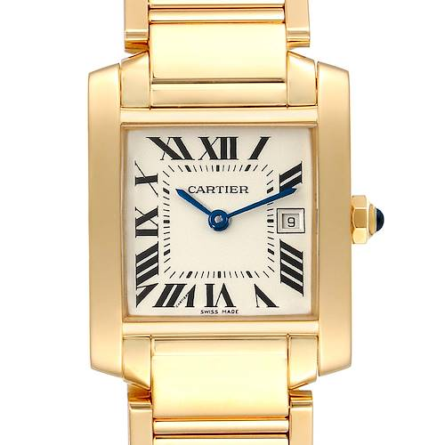 Photo of Cartier Tank Francaise Midsize Date Yellow Gold Ladies Watch W50014N2