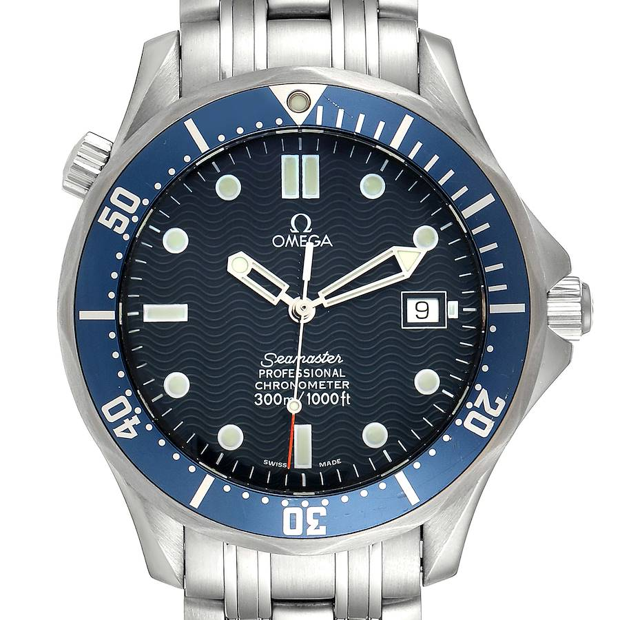 Omega Seamaster 300M Blue Dial Steel Mens Watch 2531.80.00 SwissWatchExpo
