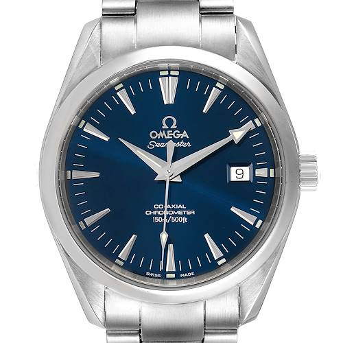 Omega Seamaster Aqua Terra Blue Dial Steel Mens Watch 2503.80.00