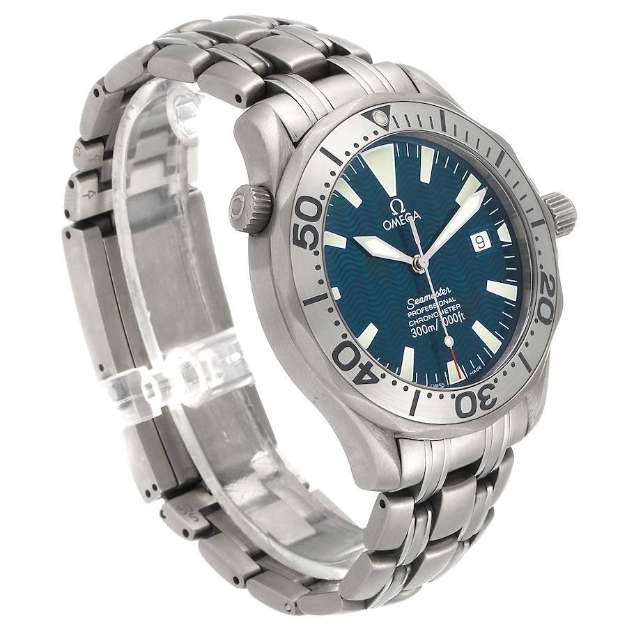 Omega Seamaster Titanium Blue Dial Mens Watch 2231.80.00 SwissWatchExpo