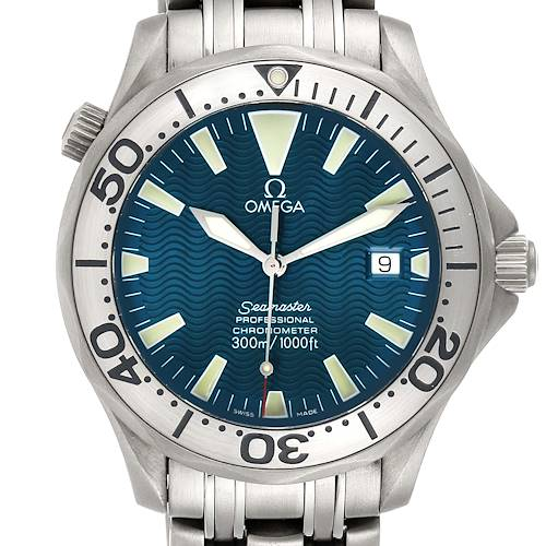 Photo of Omega Seamaster Titanium Blue Dial Mens Watch 2231.80.00