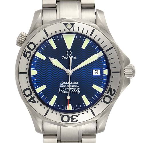Photo of Omega Seamaster Titanium Blue Dial Mens Watch 2232.80.00