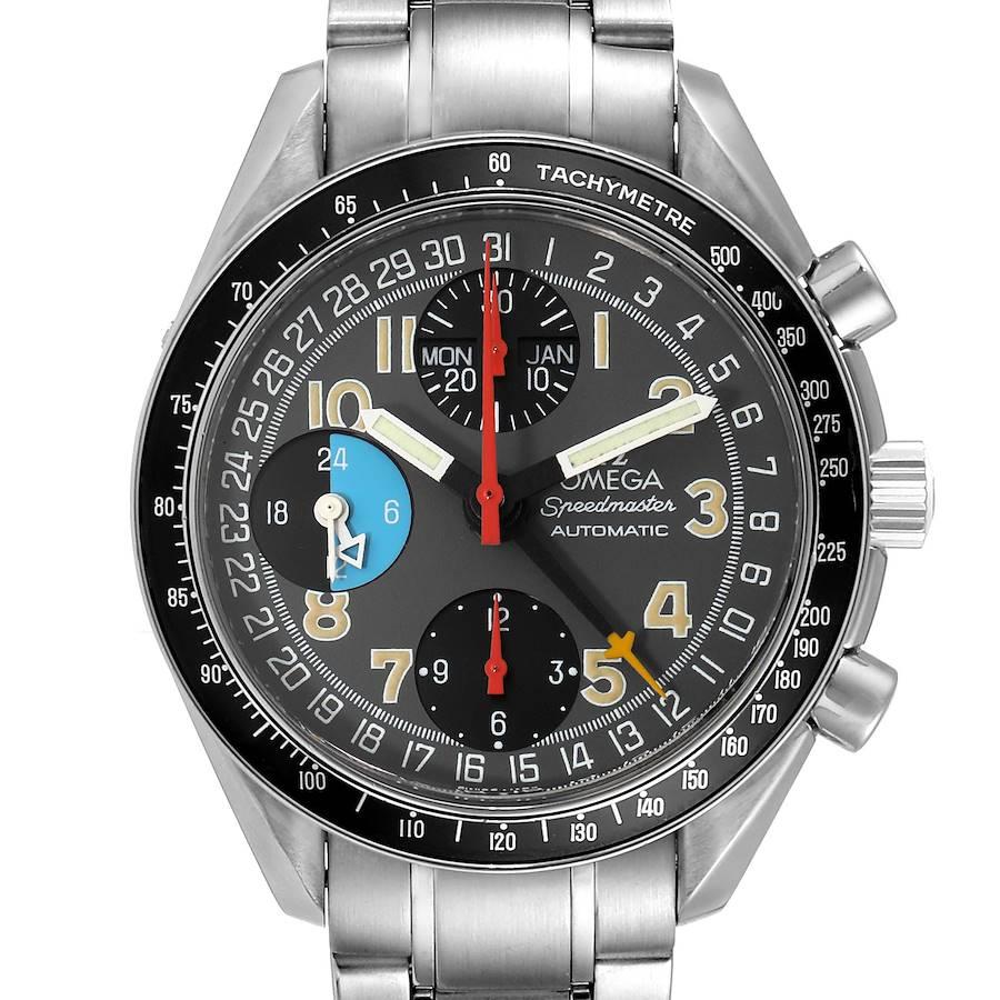 Omega Speedmaster Mark 40 Triple Calendar Mens Watch 3520.53.00 SwissWatchExpo