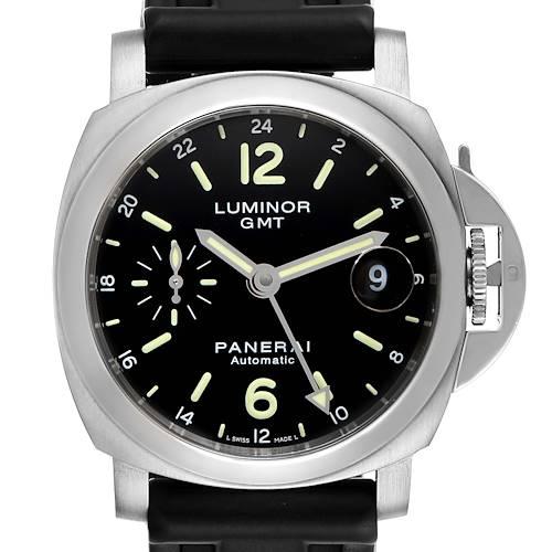 Panerai Luminor GMT 40mm Steel Mens Watch PAM00244 Box Papers