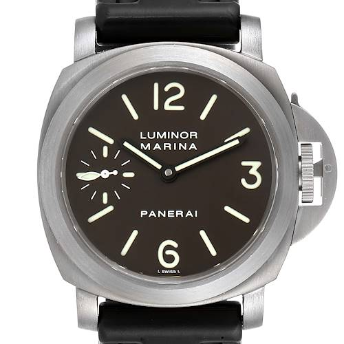 Photo of Panerai Luminor Marina 45mm Titanium Mens Watch PAM00061 Box Papers