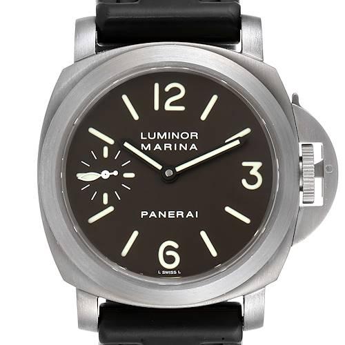 Panerai Luminor Marina 45mm Titanium Mens Watch PAM00061 Box Papers