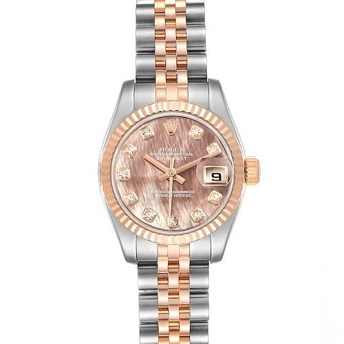 Photo of Rolex Datejust EveRose Gold Steel Diamond Ladies Watch 179171 Box