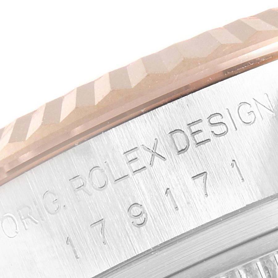 Rolex Datejust EveRose Gold Steel Diamond Ladies Watch 179171 Box SwissWatchExpo