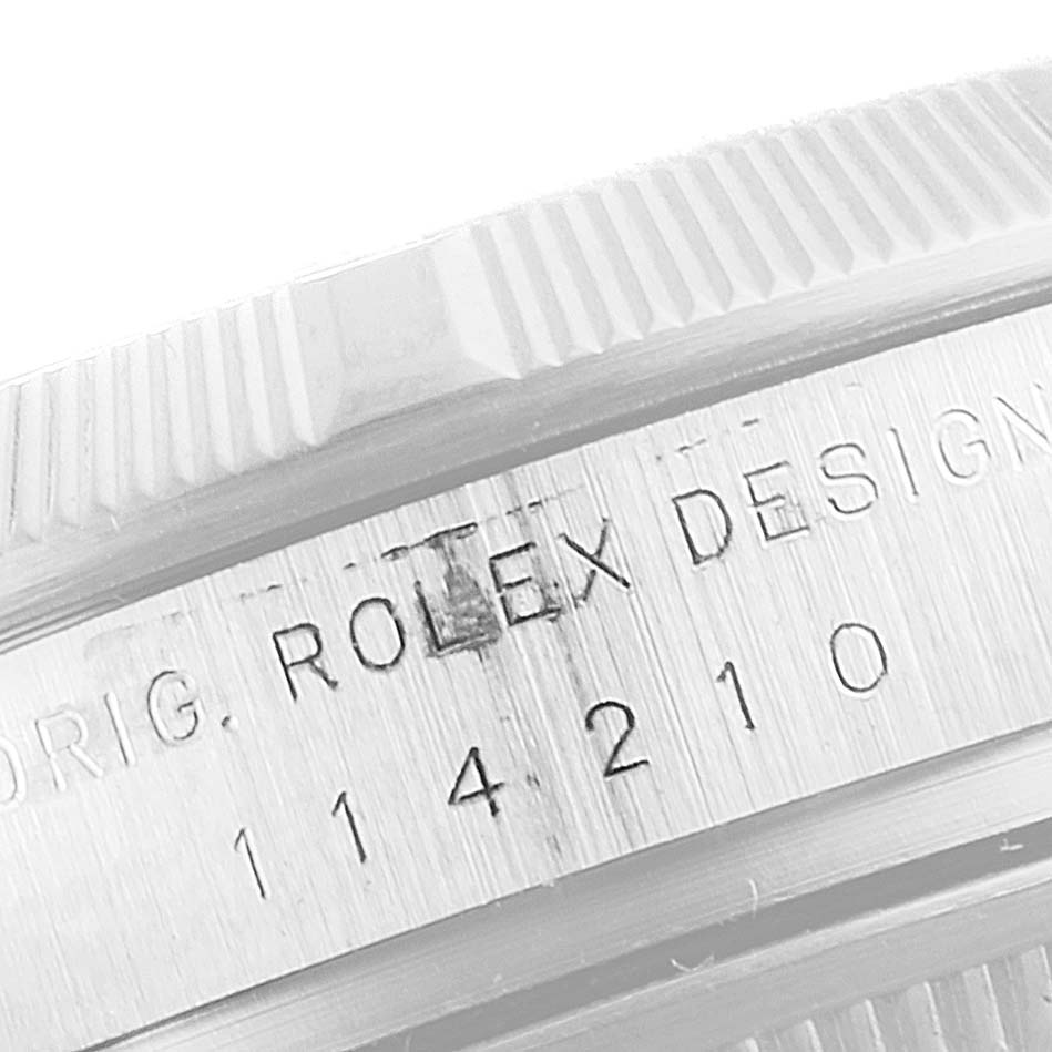 Rolex Oyster Perpetual Air King White Dial Steel Mens Watch 114210 Box Papers SwissWatchExpo
