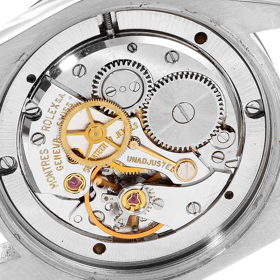 Rolex OysterDate Precision Bronze Dial Steel Vintage Mens Watch 6694 SwissWatchExpo