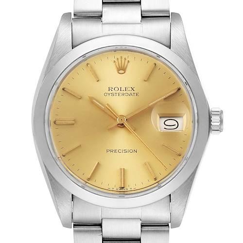 Photo of Rolex OysterDate Precision Steel Vintage Mens Watch 6694