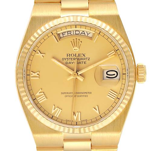 Photo of Rolex Oysterquartz President Yellow Gold Champagne Dial Watch 19018