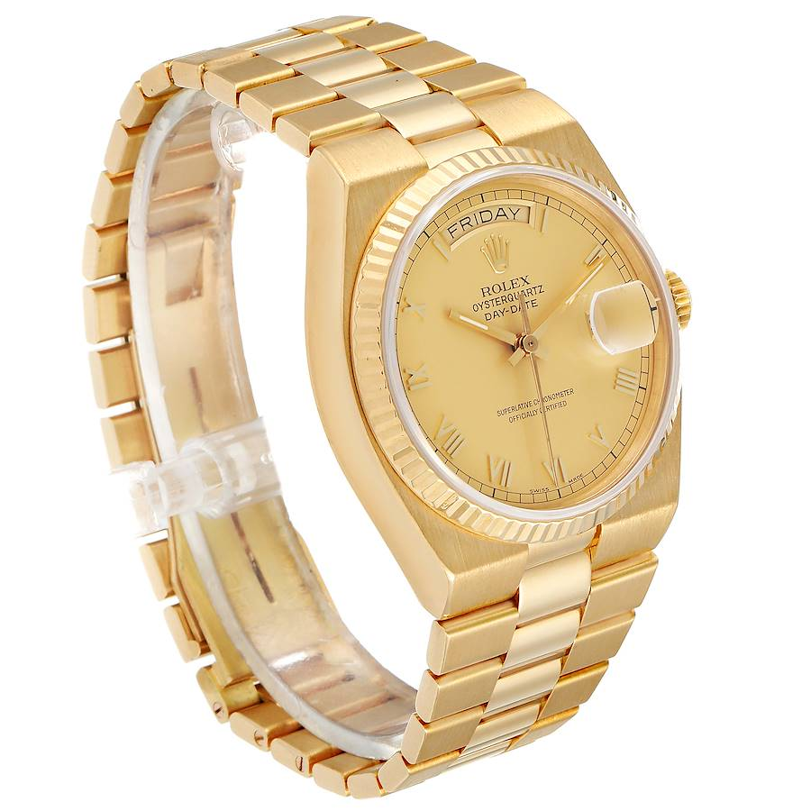 Rolex Oysterquartz President Yellow Gold Champagne Dial Watch 19018 SwissWatchExpo