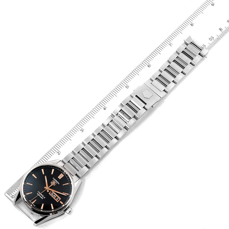 Tag Heuer Carrera Calibre 5 Day Date Steel Mens Watch WAR201D Box Card SwissWatchExpo