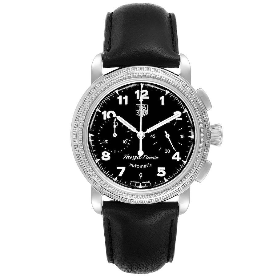 Tag Heuer Targa Florio Black Dial Chronograph Steel Mens Watch CX2112 SwissWatchExpo