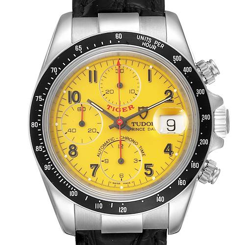 Photo of Tudor Tiger Woods Prince Chronograph Yellow Dial Mens Watch 79260