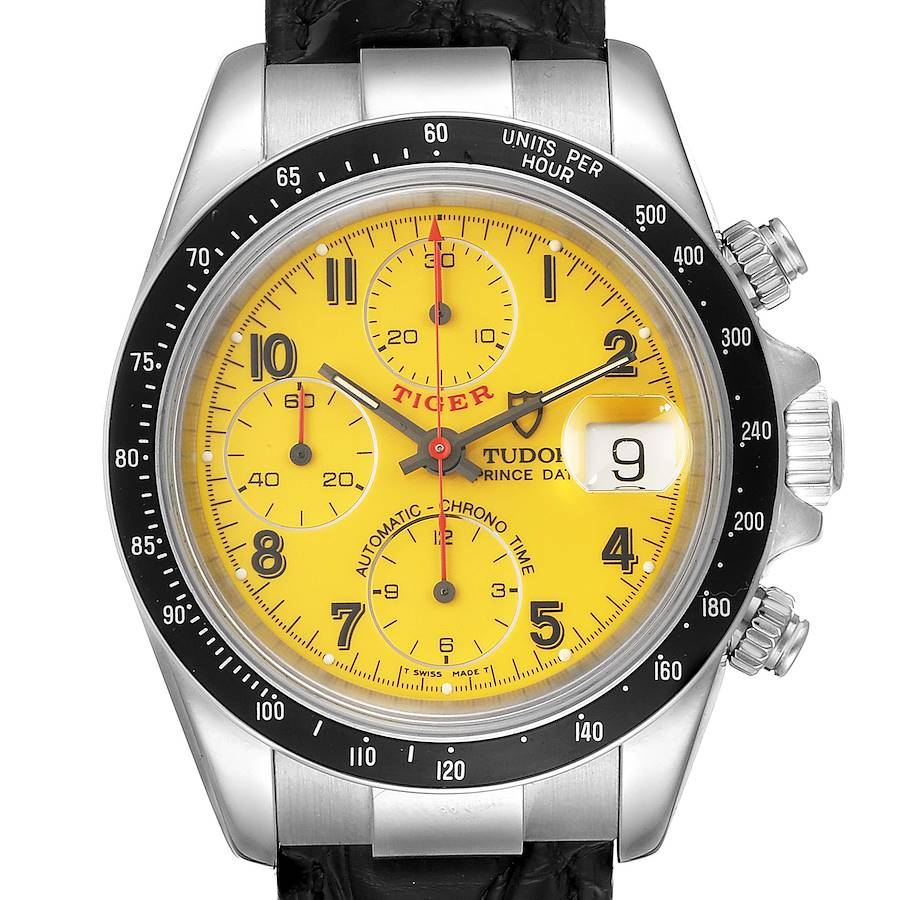 Tudor Tiger Woods Prince Chronograph Yellow Dial Mens Watch 79260 SwissWatchExpo
