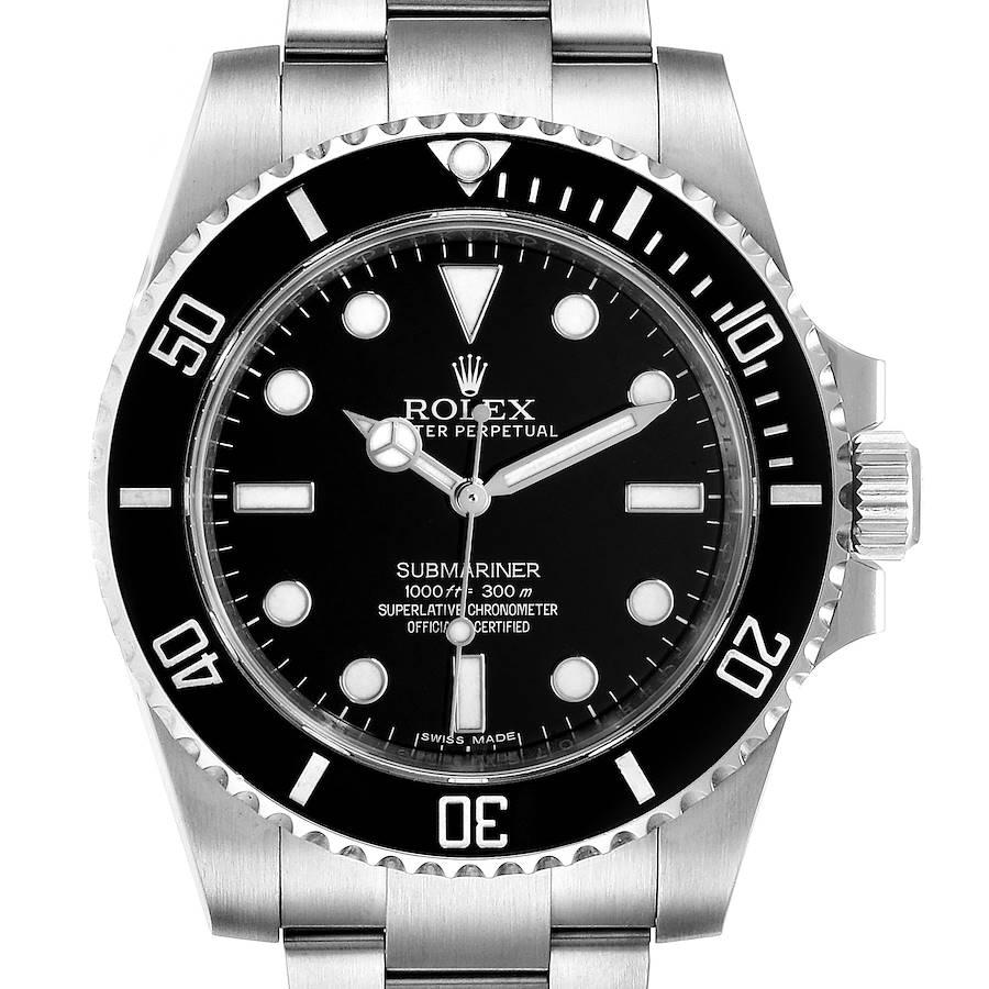 Rolex Submariner 40mm Ceramic Bezel Steel Watch 114060 Box Card SwissWatchExpo