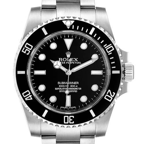 Photo of Rolex Submariner 40mm Ceramic Bezel Steel Watch 114060 Box Card