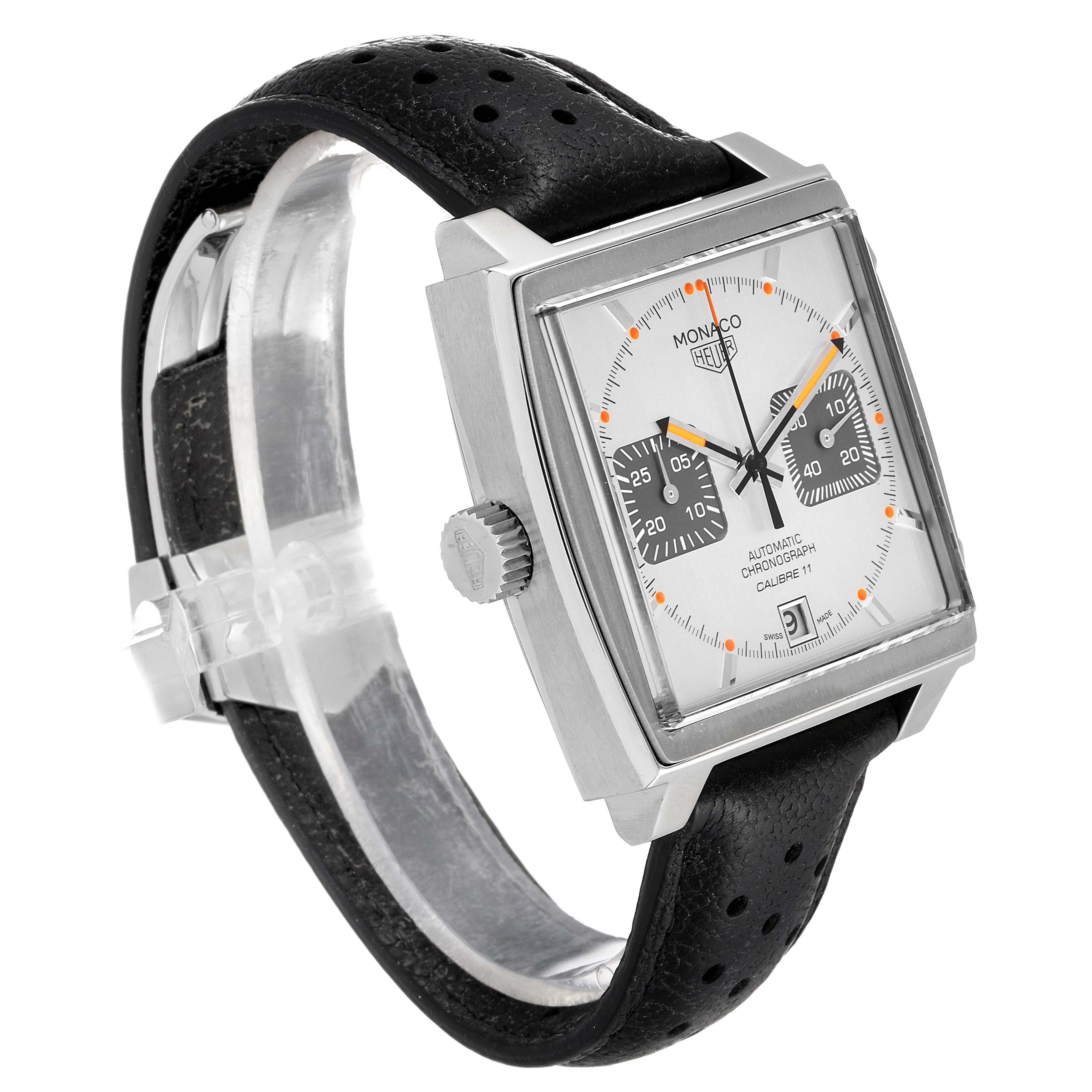 Tag Heuer Monaco Limited Production Steel Mens Watch CAW211C SwissWatchExpo