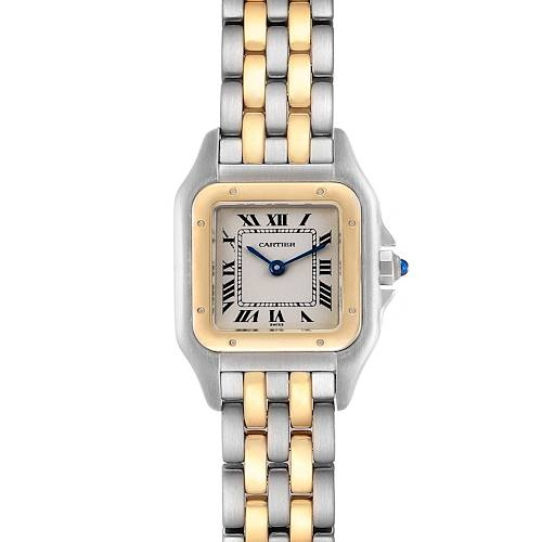 Cartier Panthere Ladies Steel Yellow Gold 2 Row Ladies Watch W25029B6