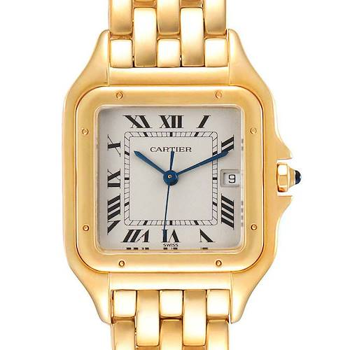 Photo of Cartier Panthere XL Blue Sapphire Yellow Gold Unisex Watch W25014B9 Box