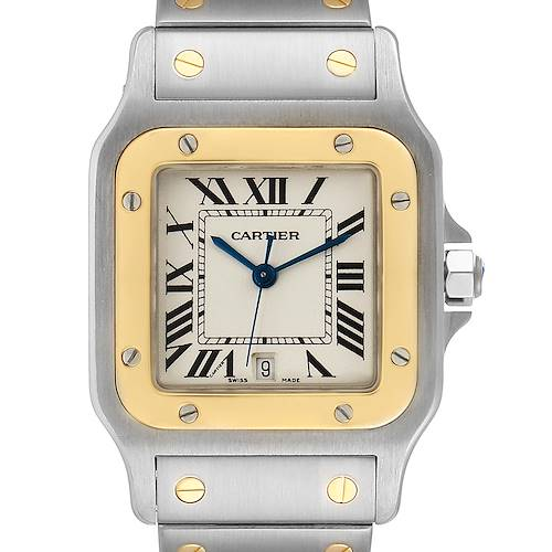 Photo of Cartier Santos Galbee Large Steel Yellow Gold Unisex Watch 1566 Box