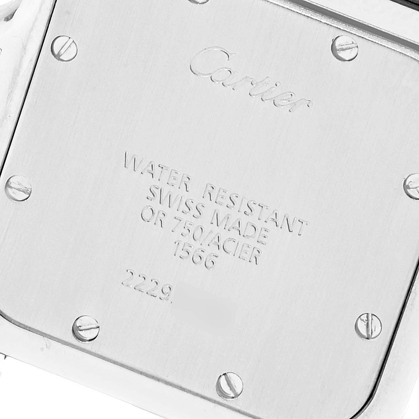 Cartier Santos Galbee Large Steel Yellow Gold Unisex Watch 1566 Box SwissWatchExpo