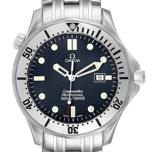 Photo of Omega Seamaster 300m Blue Wave Dial 41mm Mens Watch 2542.80.00 Box