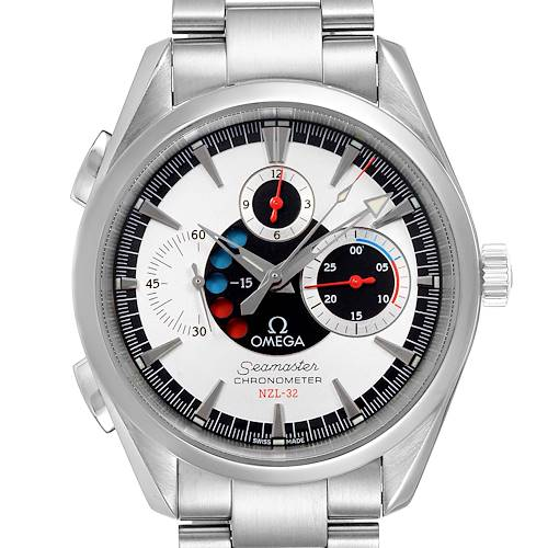 Photo of Omega Seamaster Aqua Terra NZL-32 Regatta Chronograph Watch 2513.30.00 Box Card