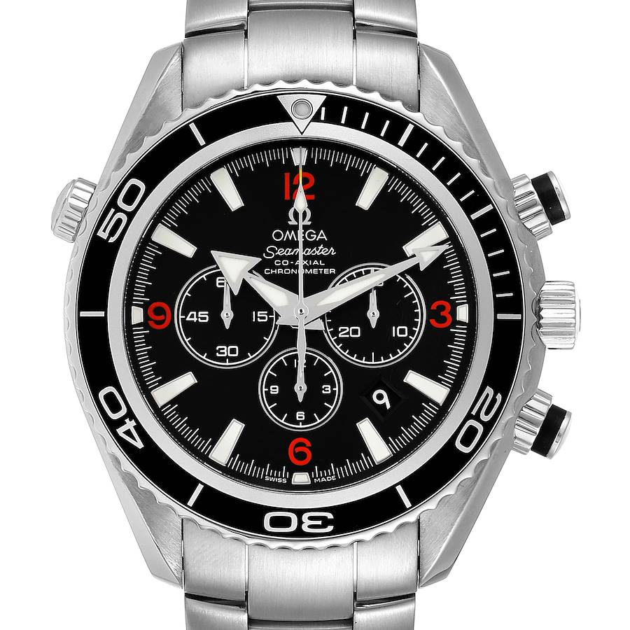 Omega Seamaster Planet Ocean 45.5 mm Chronograph Mens Watch 2210.51.00 Box Card SwissWatchExpo