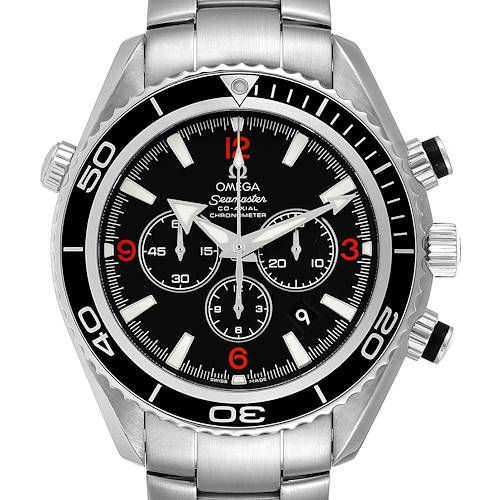 Photo of Omega Seamaster Planet Ocean 45.5 mm Chronograph Mens Watch 2210.51.00 Box Card