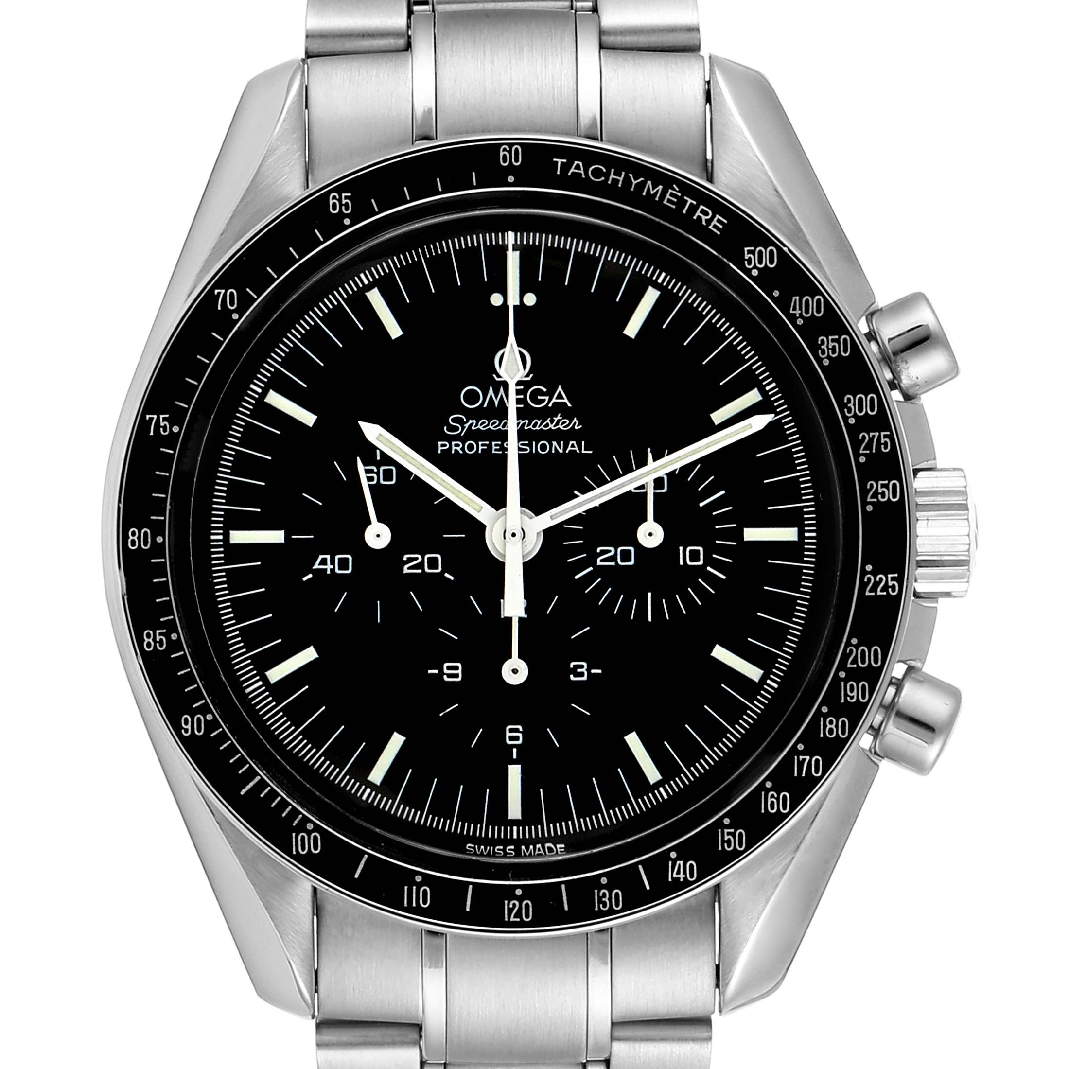 Omega Speedmaster Chronograph Black Dial Mens MoonWatch 3570.50.00 SwissWatchExpo