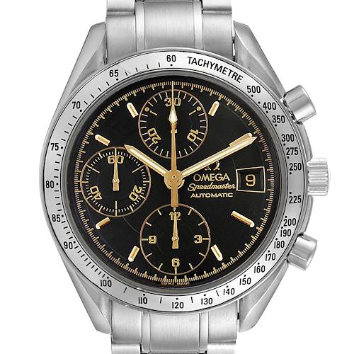 Photo of Omega Speedmaster Date Black Dial Steel Mens Watch 3513.54.00