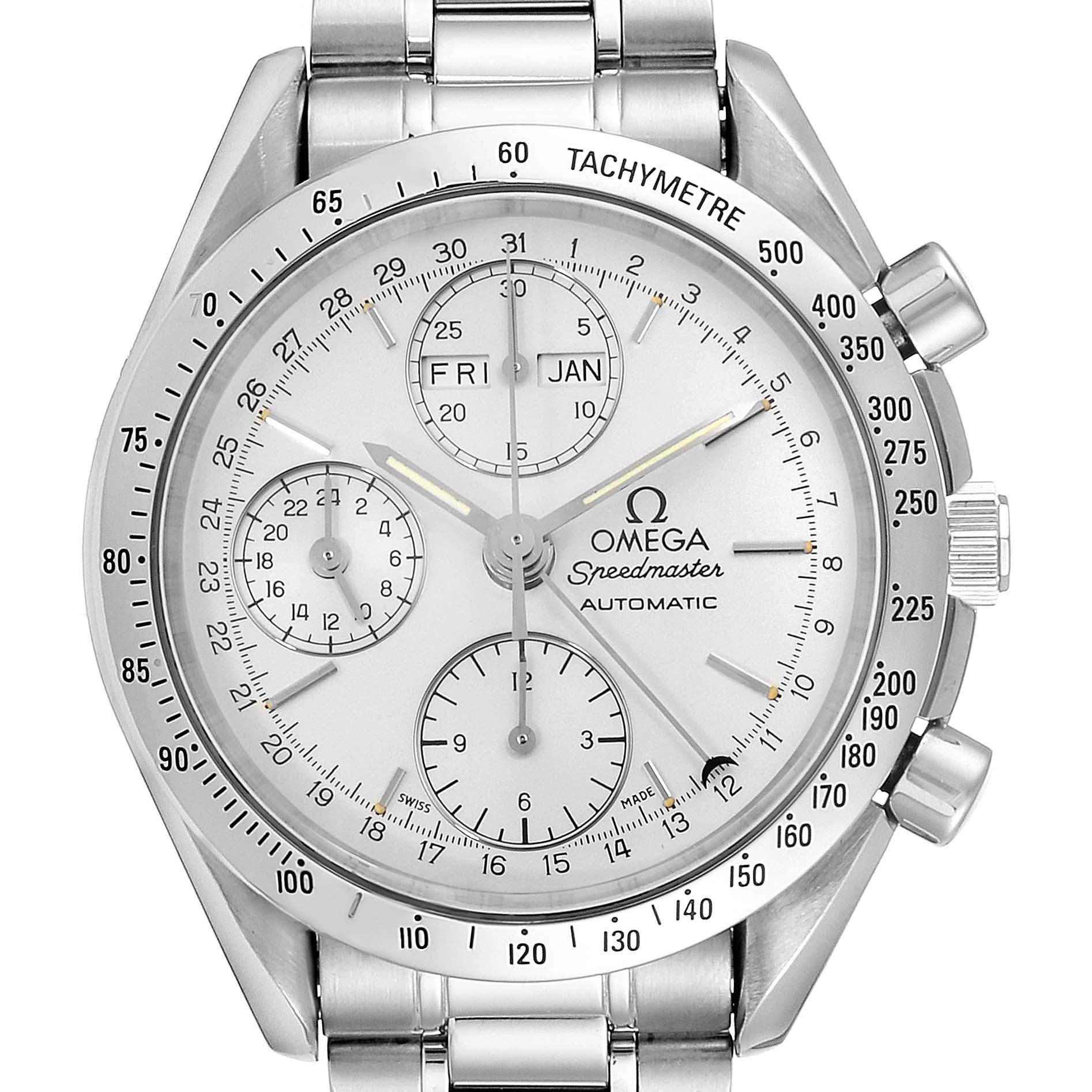 Omega Speedmaster Day Date Chronograph Mens Watch 3521.30.00 SwissWatchExpo