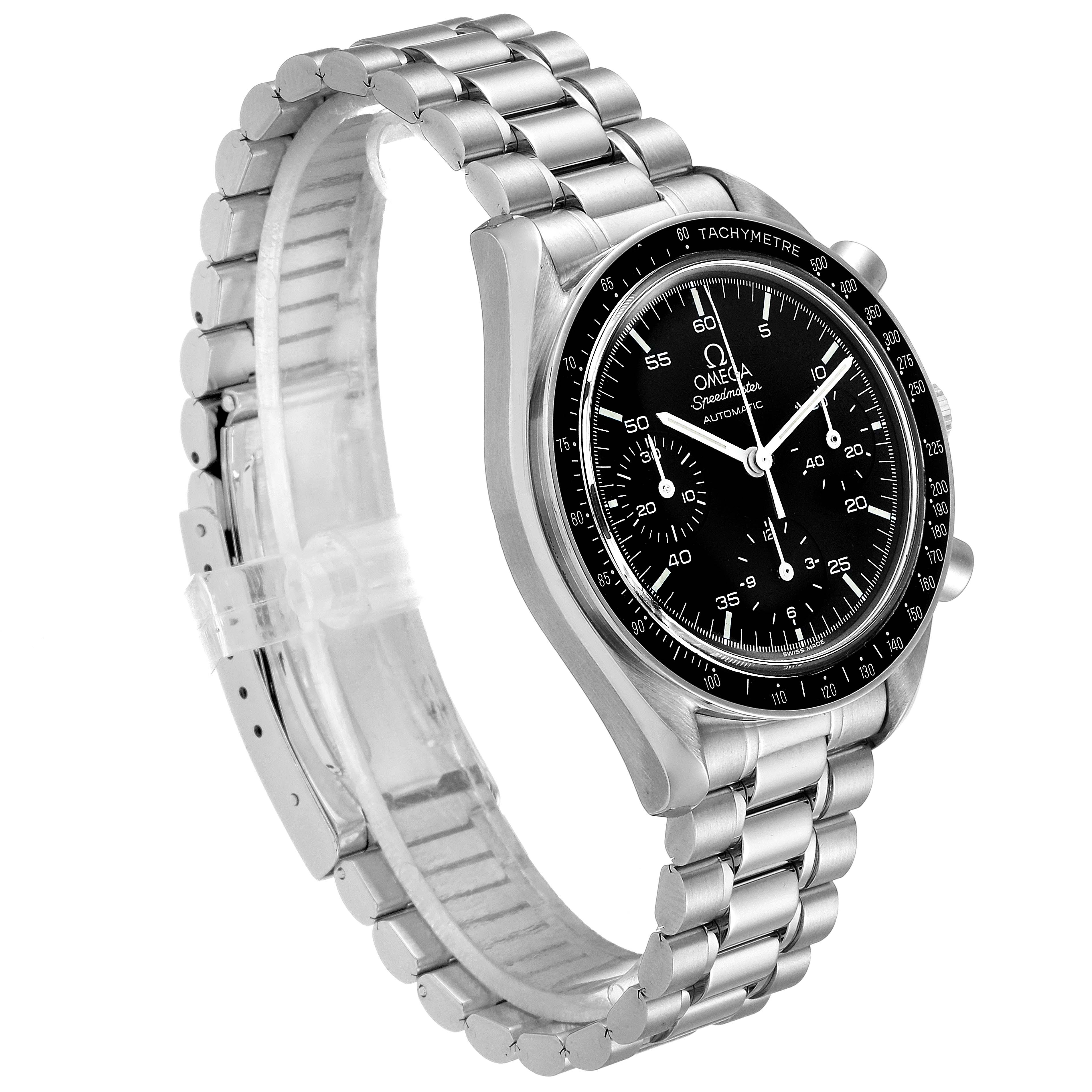 Omega Speedmaster Reduced Hesalite Crystal Automatic Mens Watch 3510.50.00 SwissWatchExpo
