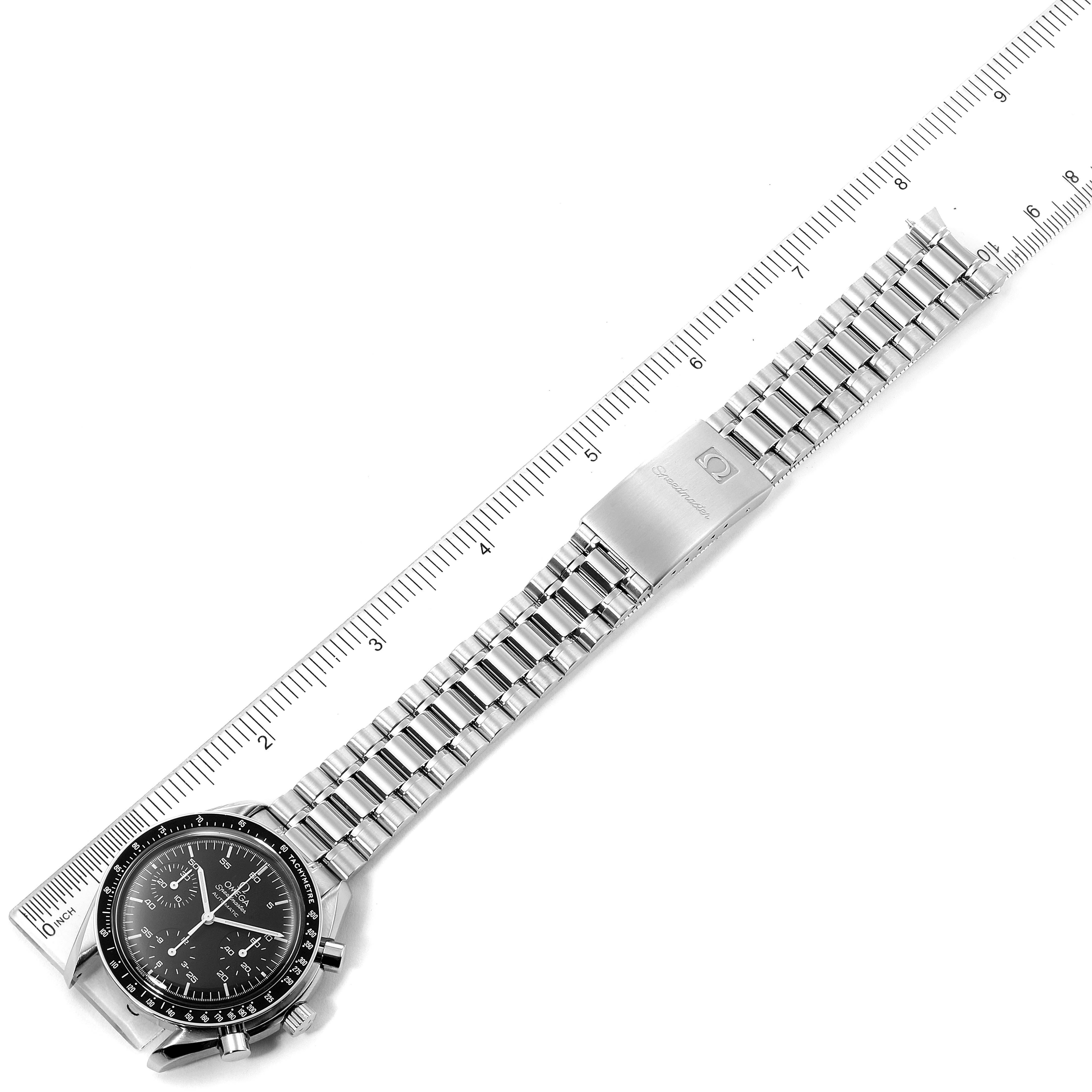 Omega Speedmaster Reduced Hesalite Crystal Automatic Mens Watch 3510.50.00 SwissWatchExpo